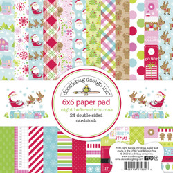 Night Before Christmas, Doodlebug 6 X 6 Paper Pad - 842715070356