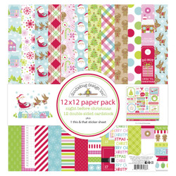 Night Before Christmas, Doodlebug 12 X 12 Paper Pack - 842715070387