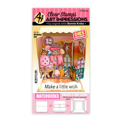 Matchbooks Birthday Set, Art Impressions Clear Stamps -