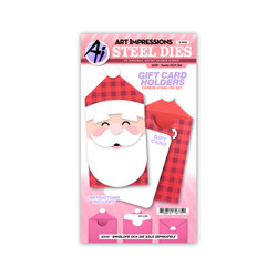 Santa Gift Card Holder, Art Impressions Dies -