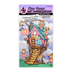 Fairy Cubbies, Art Impressions Clear Stamps -