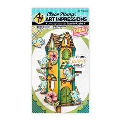 Birdhouse Cubbies, Art Impressions Clear Stamps -