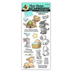 Animal Nativity, Art Impressions Clear Stamps -