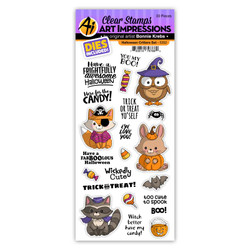 Halloween Critters, Art Impressions Clear Stamps -