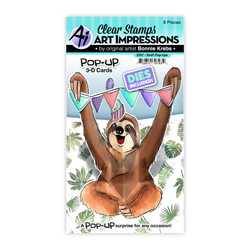 Sloth Pop-Ups, Art Impressions Clear Stamps -
