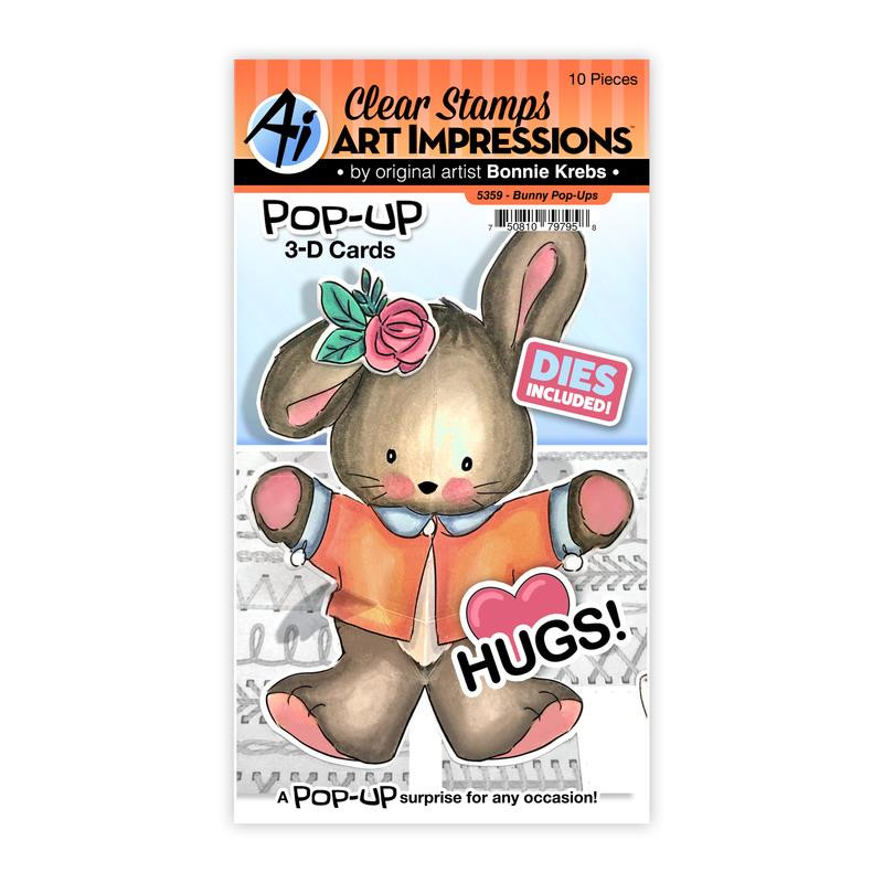 Bunny Pop-Ups, Art Impressions Clear Stamps -