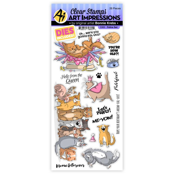 Feline, Art Impressions Clear Stamps -