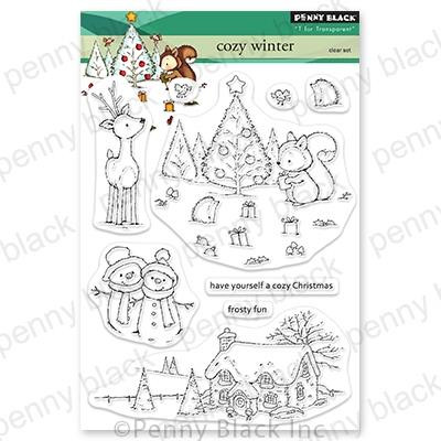 Cozy Christmas, Penny Black Clear Stamps -