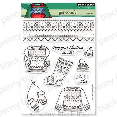 Get Comfy, Penny Black Clear Stamps -