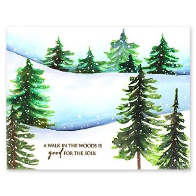 All Things Evergreen, Penny Black Cling Stamps -