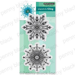 Fab Flakes, Penny Black Cling Stamps -