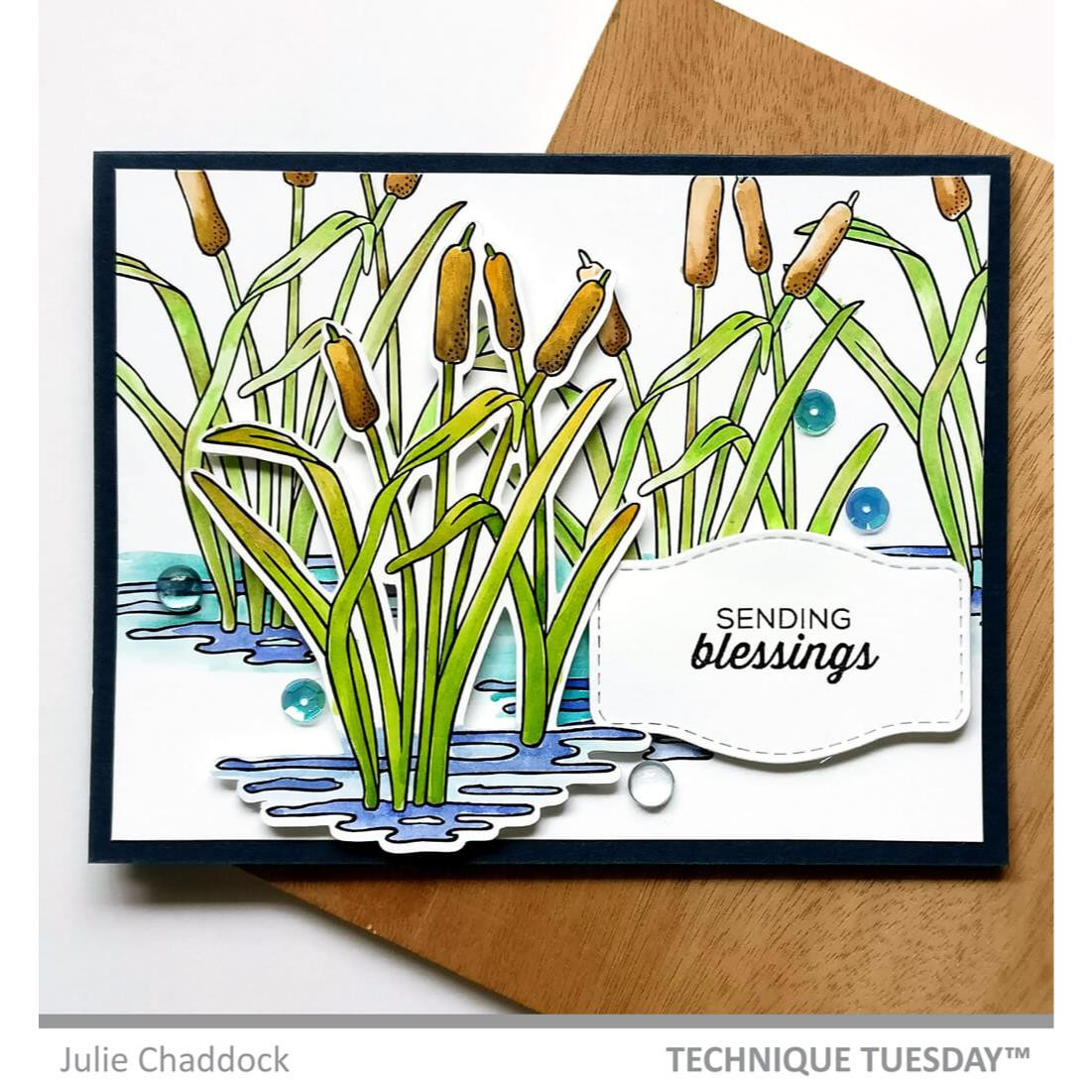 Cattails, Technique Tuesday Clear Stamps - 811784028704