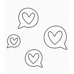 Love Speech Bubbles, My Favorite Things Die-Namics - 849923037980
