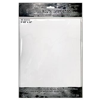 White 8.5 X 11, Ranger Distress Heavystock - 789541076322