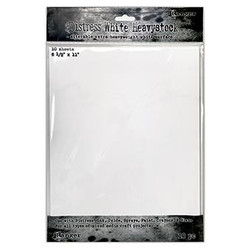 White 8.5 X 11, Ranger Distress Heavystock - 789541076322