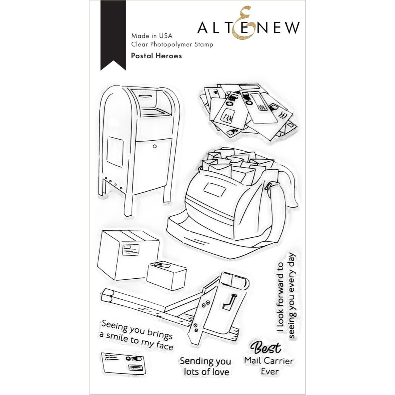 Postal Heroes, Altenew Clear Stamps - 737787272374