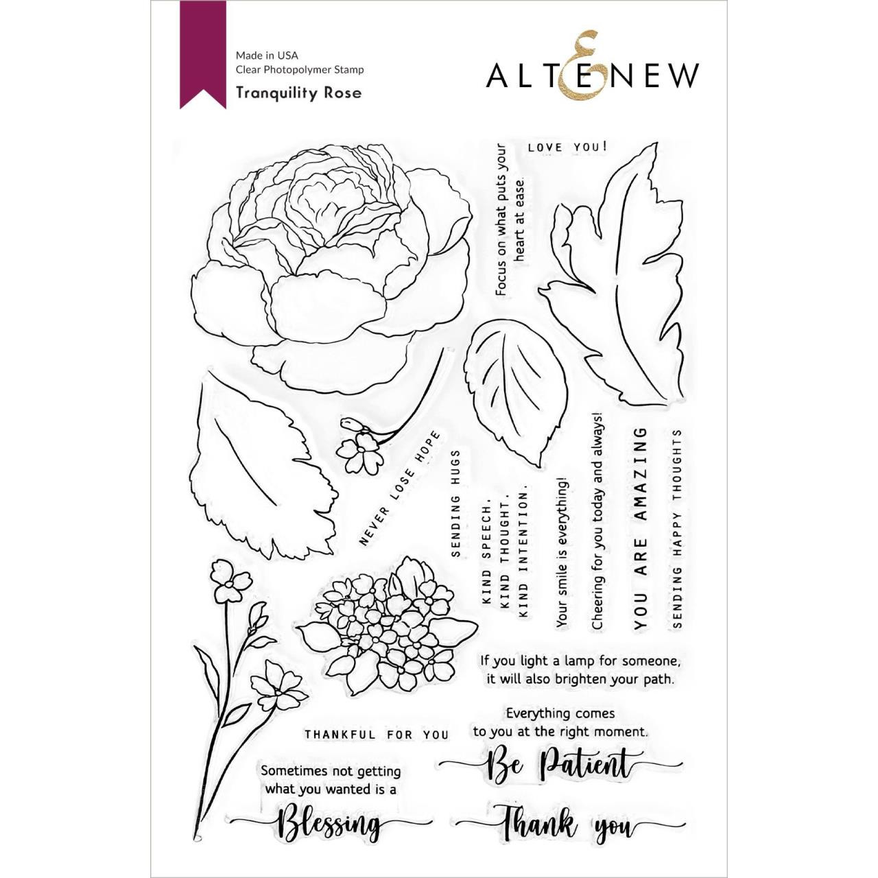 Tranquility Rose, Altenew Clear Stamps - 737787272435
