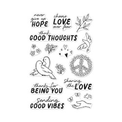 Good Vibes, Hero Arts Clear Stamps - 085700929011