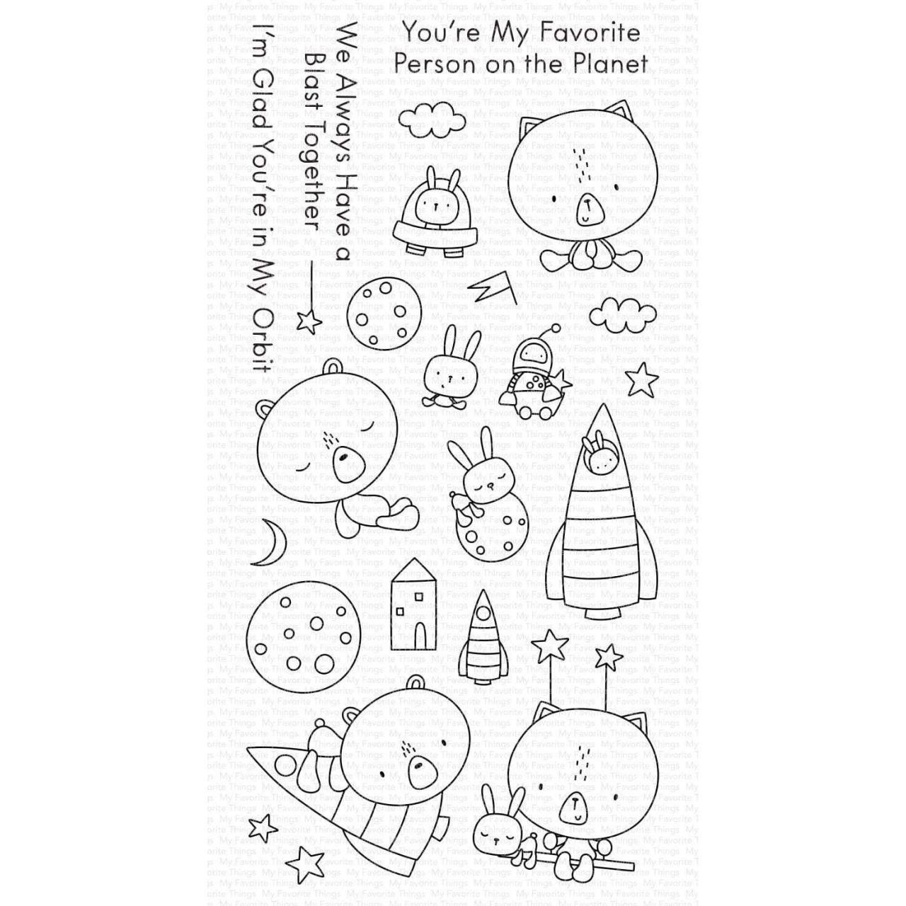 Blastoff Buddies, My Favorite Things Clear Stamps - 849923038055