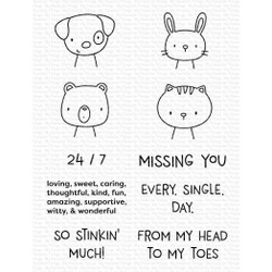 Missing You Every Single Day, My Favorite Things Clear Stamps - 849923037881