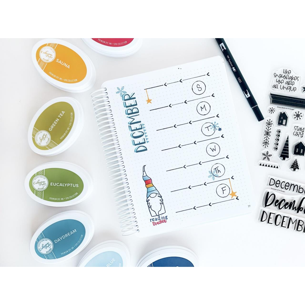 December, Catherine Pooler Clear Stamps -