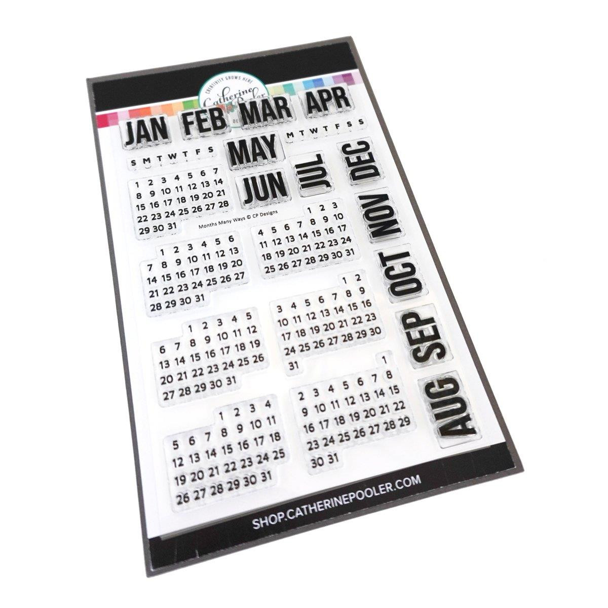 Months Many Ways, Catherine Pooler Clear Stamps -
