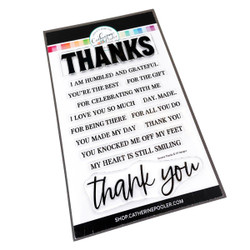 Sincere Thanks, Catherine Pooler Clear Stamps -