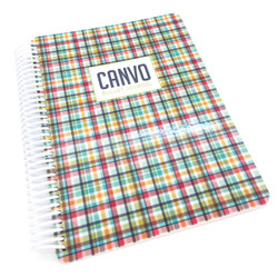 Hip Plaid, Catherine Pooler Canvo Journal -