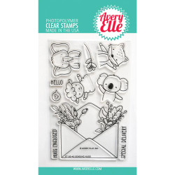 Sending Hugs, Avery Elle Clear Stamps -