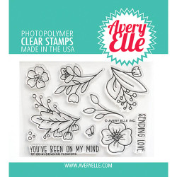 Sending Flowers, Avery Elle Clear Stamps -