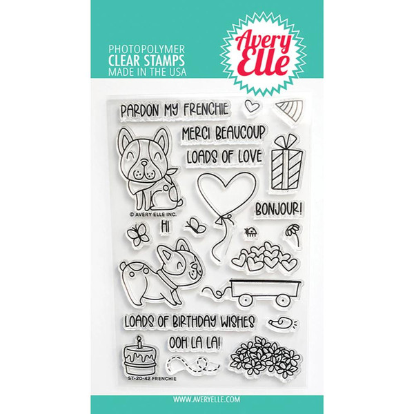 Frenchie, Avery Elle Clear Stamps -