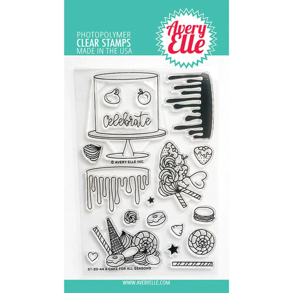 A Cake For All Seasons, Avery Elle Clear Stamps -