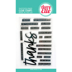 Loads of Thanks, Avery Elle Clear Stamps -