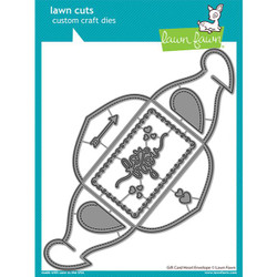 Gift Card Heart Envelope, Lawn Cuts Dies - 035292676909