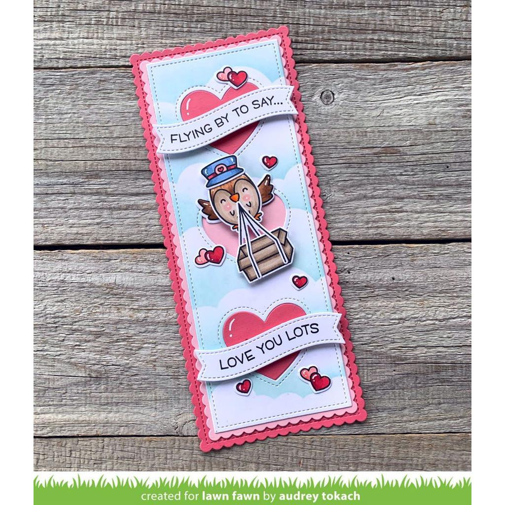 Scalloped Slimline with Hearts: Portrait, Lawn Cuts Dies - 035292676954