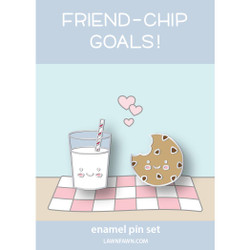 Cookies and Milk, Lawn Fawn Enamel Pins - 035292676978