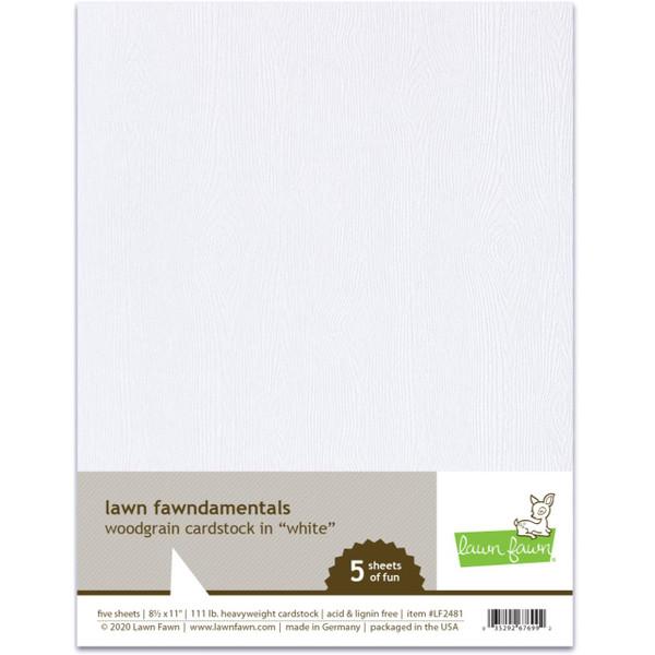Woodgrain Cardstock - White, Lawn Fawn Cardstock - 035292676992