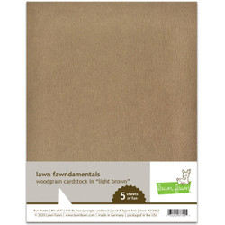 Woodgrain Cardstock - Light Brown, Lawn Fawn Cardstock - 035292677005
