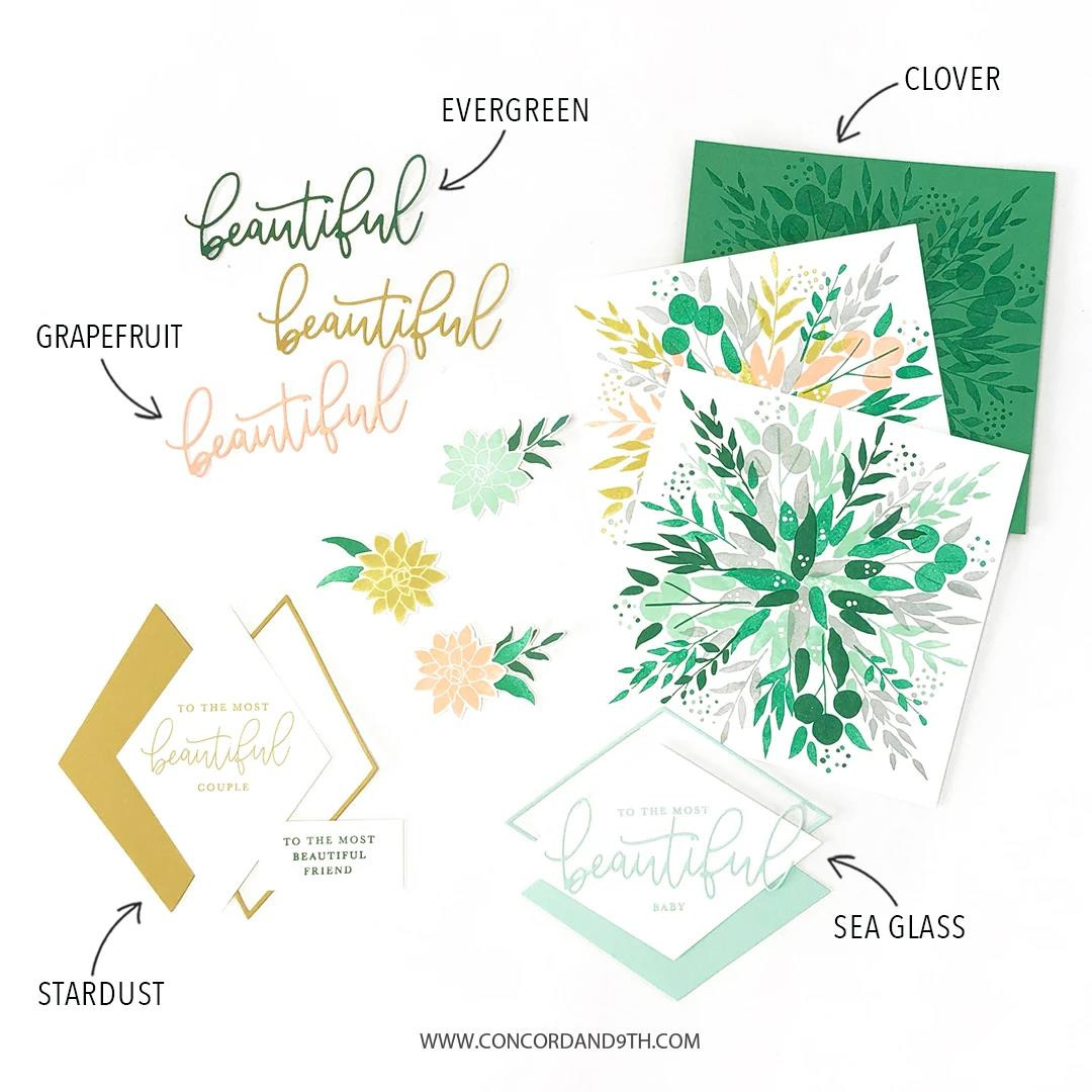 Botanical Turnabout, Concord & 9th Clear Stamps - 717932698273
