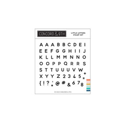 Little Letters, Concord & 9th Clear Stamps - 717932698310
