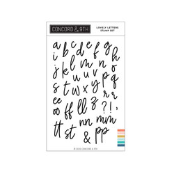 Lovely Letters, Concord & 9th Clear Stamps - 717932698327