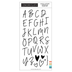 Lovely Letters Uppercase, Concord & 9th Clear Stamps - 717932698334