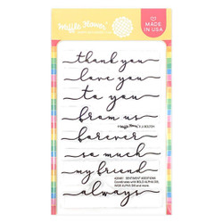 Sentiment Additions, Waffle Flower Clear Stamps -