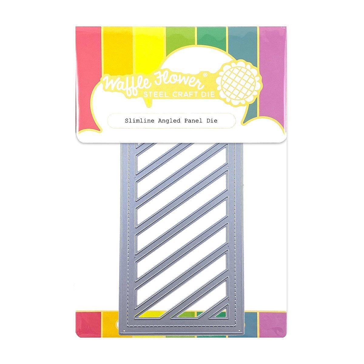 Slimline Angled Panel, Waffle Flower Dies -