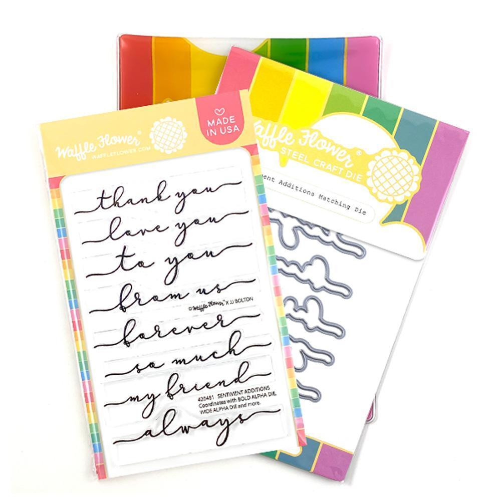 Sentiment Additions, Waffle Flower Stamp & Die Combo -