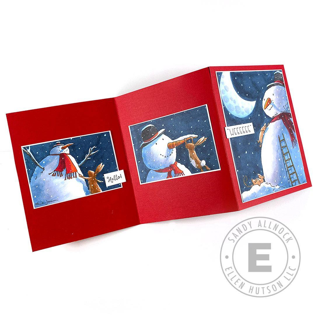 Snowman & Bunny Framed by Anita Jeram, Colorado Craft Company Clear Stamps - 810043853996