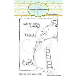 Best Sledding by Anita Jeram, Colorado Craft Company Clear Stamps - 810043854108