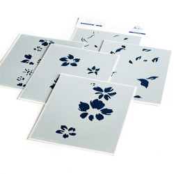 Seamless Floral Panel, Pinkfresh Studio Stencils - 736952869067