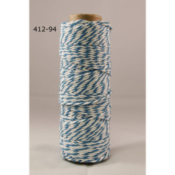 Baker's Twine Twisted Ribbon - Turquoise, May Arts - 848208000824