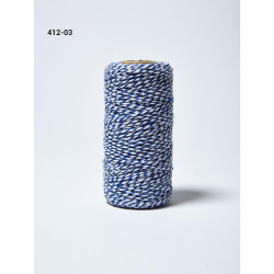 Baker's Twine Twisted Ribbon - Blue, May Arts - 848208005638
